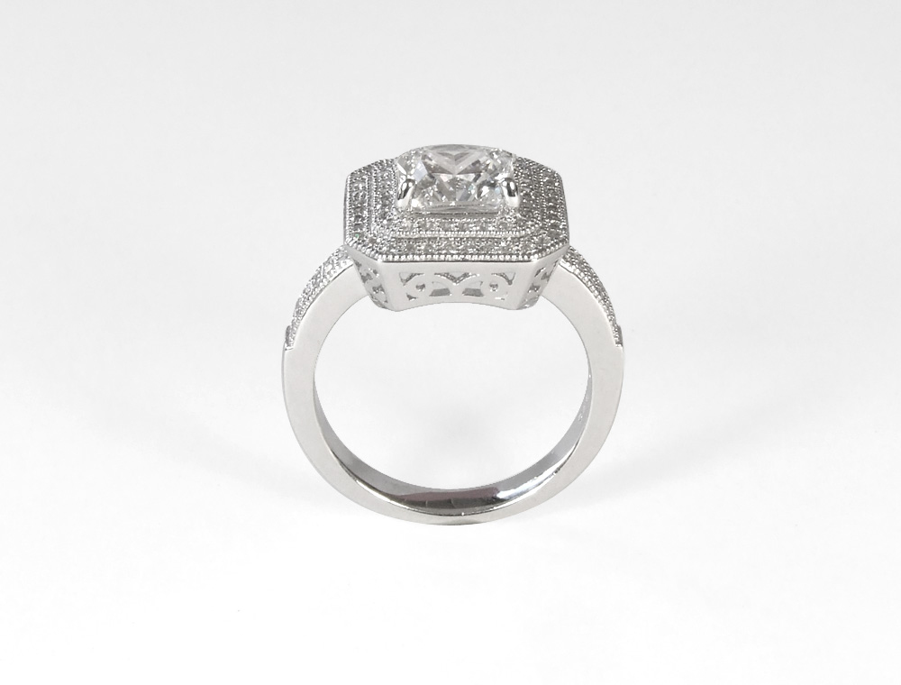 sterling silver micro pave ring